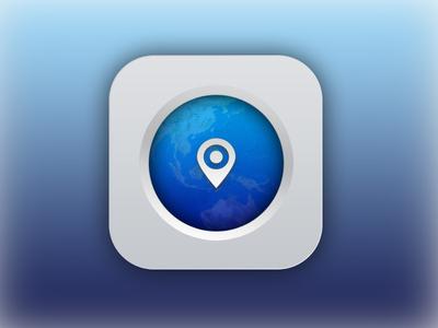 Mobile Maps App Icon