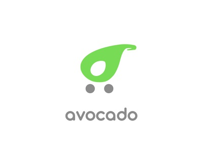 #24, Thirty Days Logo Challenge grocery avocado shopping cart identity thirty logos thirtylogos branding brand logo
