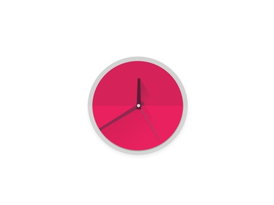 Material Design Clock Icon