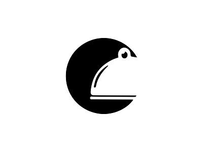 Foodie Logo negative-space flat pacman foodie food branding brand logo