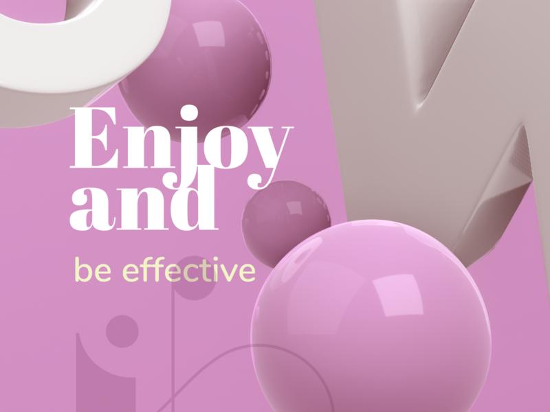 Enjoy logo design webdesign branding brand identity branding design illustration 3d illustration 3d art 3d