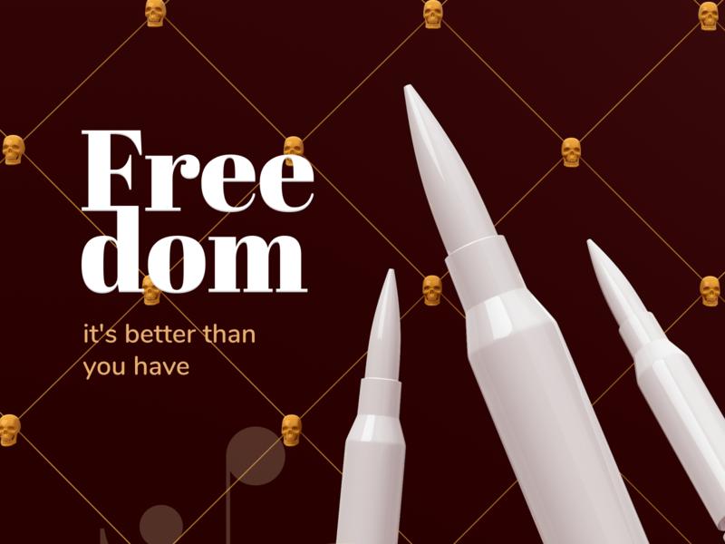 Freedom logo design webdesign branding brand identity branding design illustration 3d illustration 3d art 3d