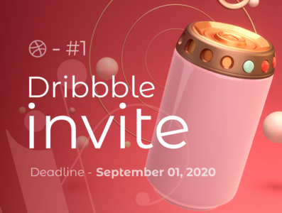 Dribbble invite Giveaway illustration 3d illustration 3d art 3d dribbble invitations webdesigner website webdesign dribbble invite dribbble invite giveaway dribbble best shot dribbble design