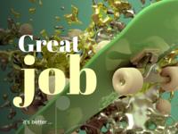 Great job logo design webdesign branding brand identity branding design illustration 3d illustration 3d art 3d