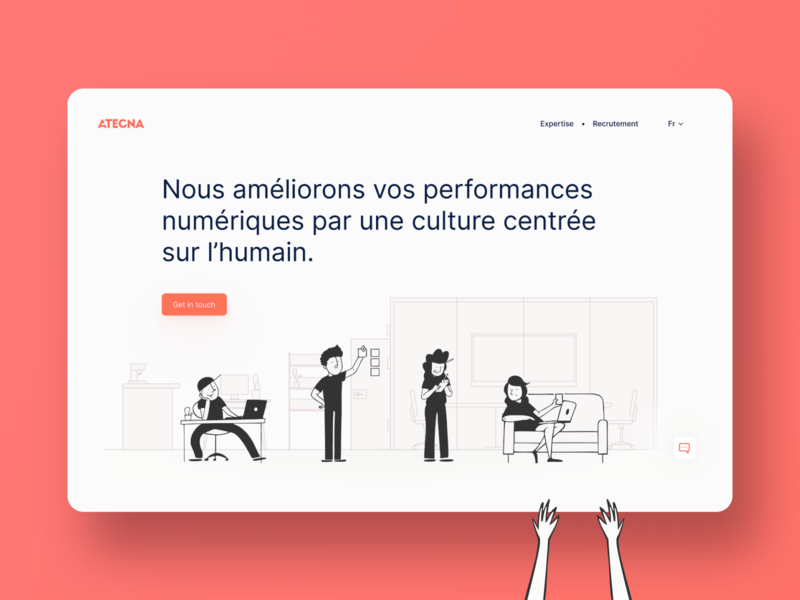 Landing page for web agency branding design illustration ui design ui