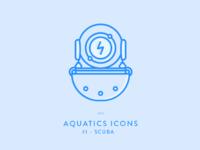 AQUATICS ICONS - #1- Scuba