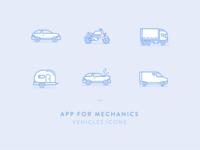 Vehicles icons