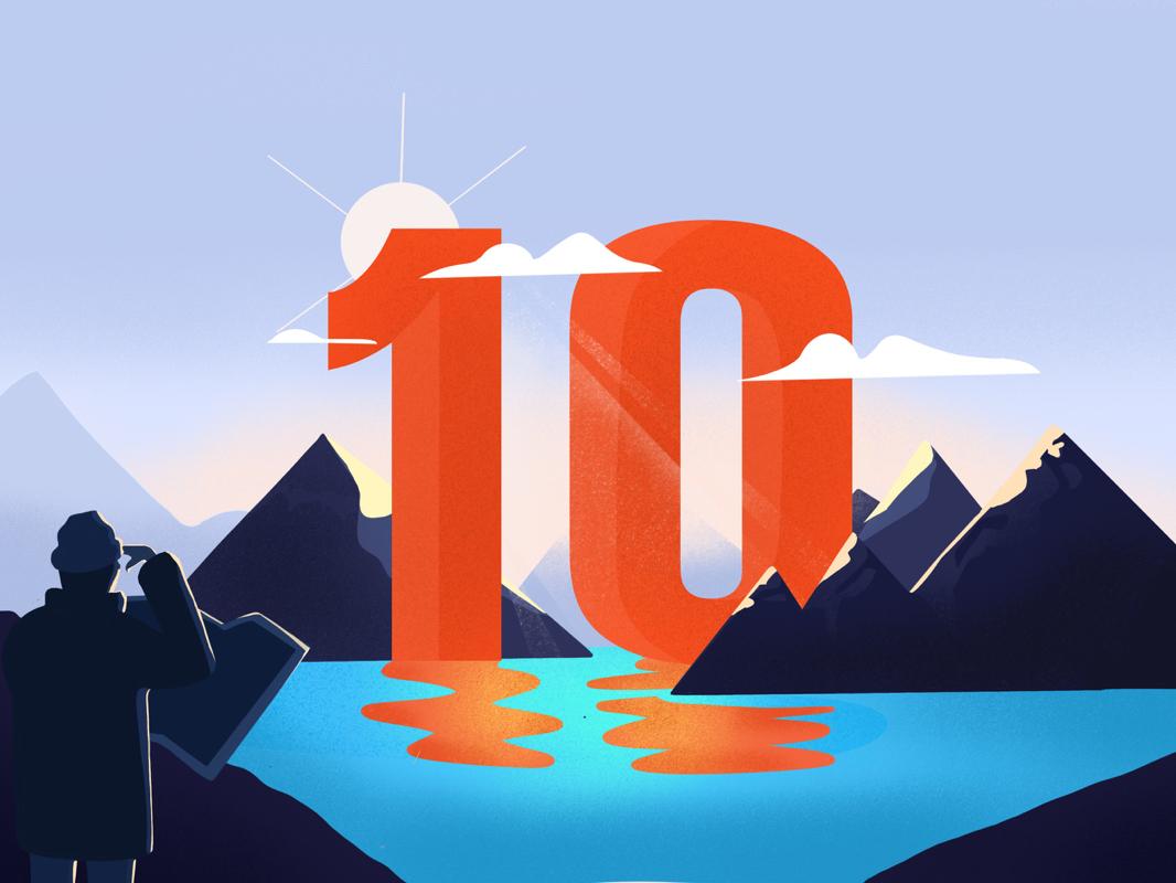 Landscape #10 procreate art procreate landscape design landscape illustration