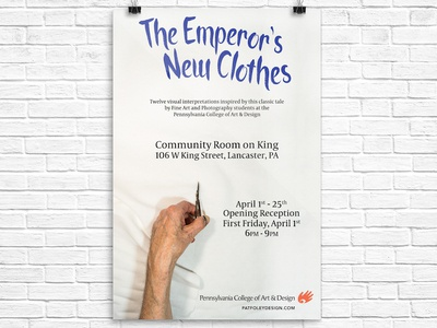 Emperor's New Clothes Gallery Exhibition Poster school photography poster