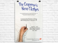 Emperor's New Clothes Gallery Exhibition Poster