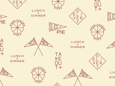 Pizza Pattern typogaphy type design graphic design iconography pasta takeout slice delivery pattern icons pizza box pizza