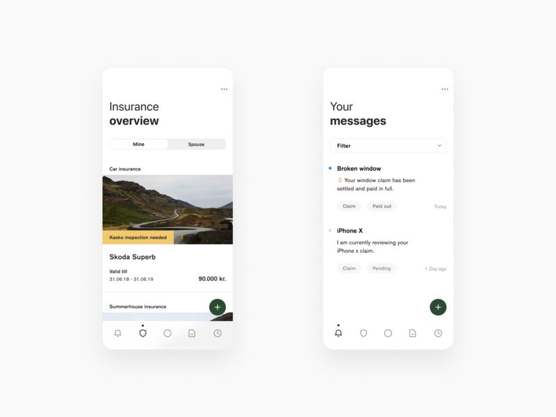 Insurance Concept v3 native minimal mobile ios product insurance clean design app minimalistic