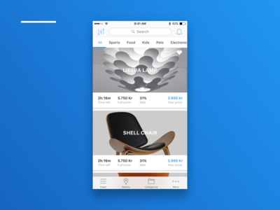 Sub Shop Front X1 listview ecommerce sub shop native ios experience