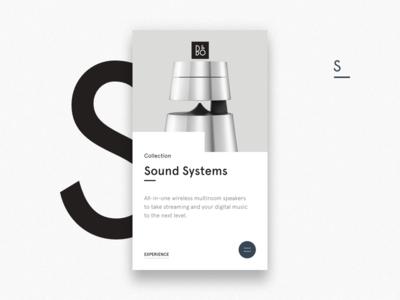 B&O Sound Systems X1 bangolufsen simple minimalistic clean design app navigation product bo