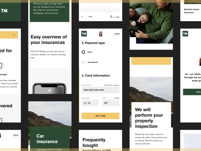 eTM Mobile site online insurance kolibri insurance web mobile design tm etm