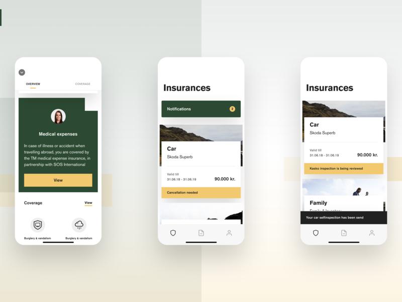 TM App V2 ui minimal mobile ios product insurance clean design app minimalistic