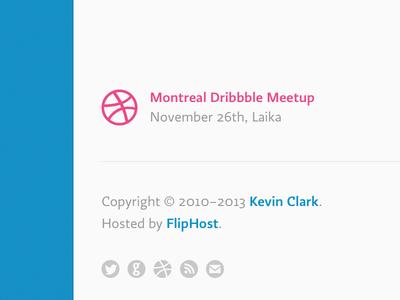 Montreal Dribbble Meetup, November 26th