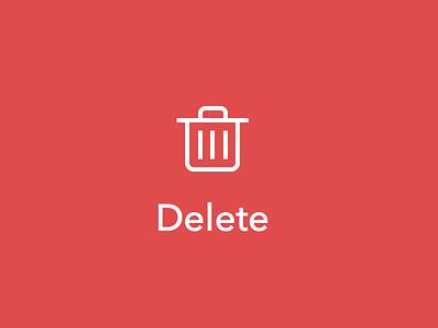 Delete icon delete