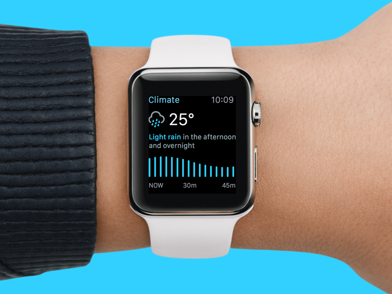 Climate - Weather app for Apple Watch icons apple watch app weather