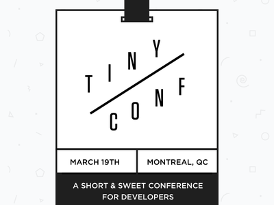 Tiny Conf badge conference