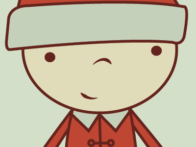 Screen Shot 2013 12 12 At 9.12.08 Pm christmas gift tag elf cute red green circle lisa m. dalton illustration print