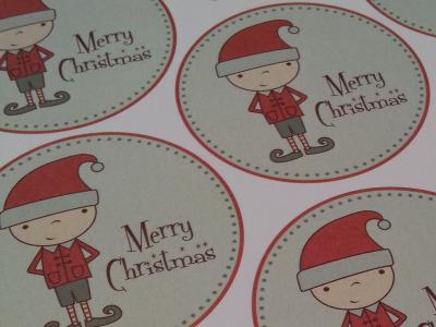 Christmas Gift Tags Printable Sheet elf christmas gift tag free download illustration lisa m. dalton cute happy red green