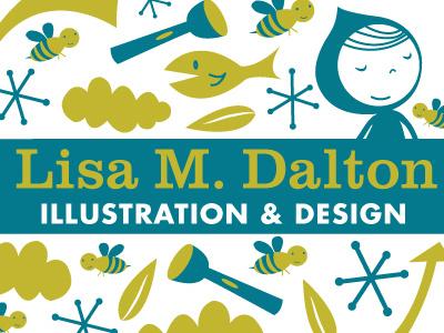 Lisa M. Dalton Logo branding logo green blue cute lisa m. dalton happy