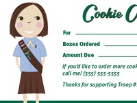 Girl Scout Cookie Order Receipt