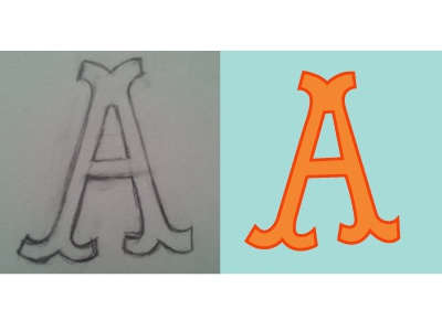 Daily Letter Project-Day 1 daily letter illustration hand lettering project lisa m. dalton
