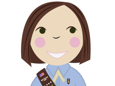 Screen Shot 2014 02 25 At 3.08.26 Pm badges lisa m. dalton cookies receipt cute happy illustration sash girl scouts design scouts