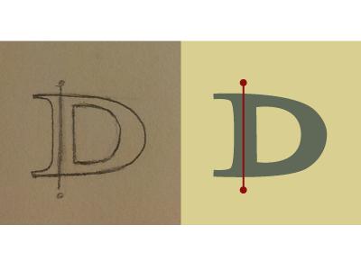 Daily Letter Project-Day 4 illustration daily letter lisa m. dalton retro design 1960s hand lettering vintage
