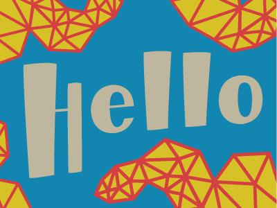 Hello Postcard snail mail hello lisa m. dalton lettering design illustration postcard