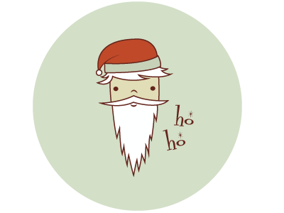 Santa Pin design illustration dalton m. lisa santa