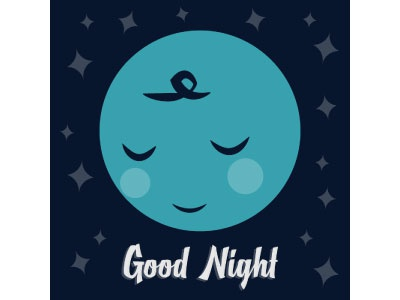 Good Night pattern vector character moon cute childrens graphic design design illustration