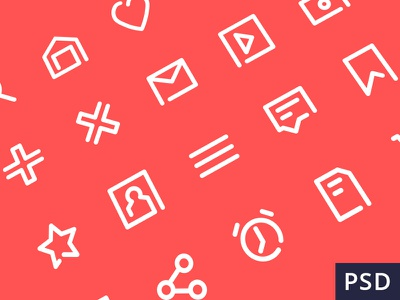 20 Free outline icons flat vector freebie download free pack psd icons outline