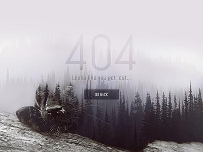 Lost in 404 woods? ux ui web photoshop design flat fog woods lost 404