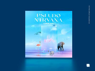 PSEUDO NIRVANA, COVER musicalbum bipolarbear mgraphics dreamy pastel coverart albumcover myanmar music cover albumart