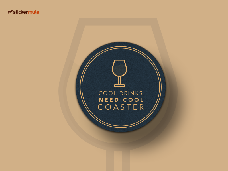 Coaster Drink illustration concept clean design vector minimaldesign stickermule sticker coaster