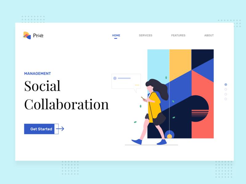 Prido Homepage graphic design website userinterface concept clean ui illustration minimal discover design