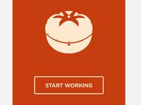 Minimalistic Pomodoro App's Start Screen