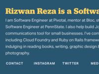 Profile Site Design