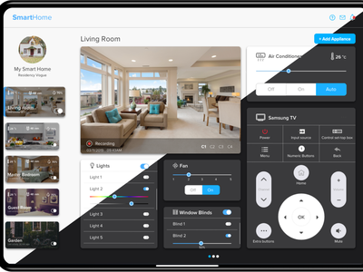 SmartHome Application Day & Night Theme home controller day night theme ipad smart home uidesign