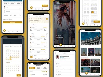 Redesign Etihad Airways airways redesign flight ticket booking mobile application