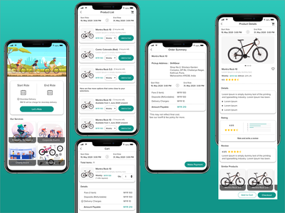 Online Bicycle Renting event services mobile application