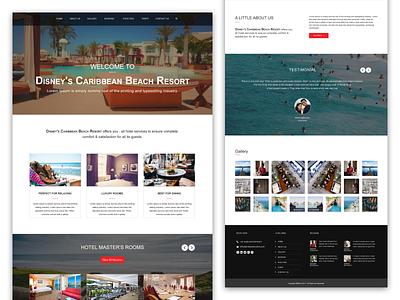 Hotel Website Homepage resorts room beach hotel website