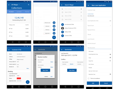 Loan Scheme Application for Rural Area villager easy to use loan app android app design