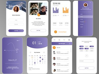 Mobile Theme creativity ui design android app design mobile application