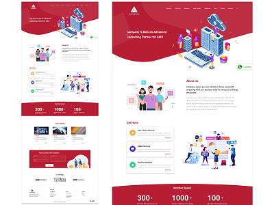 Company Website Template 1 ui design web design company website website