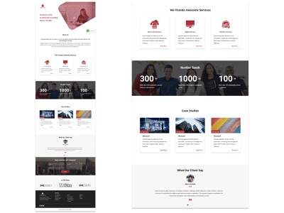 Company Website Template 2 ui design company website website