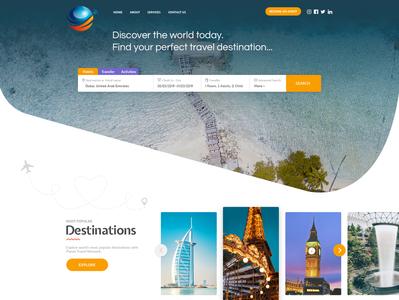 B2C Travel Website Layout